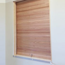 Timber Roller Shutter